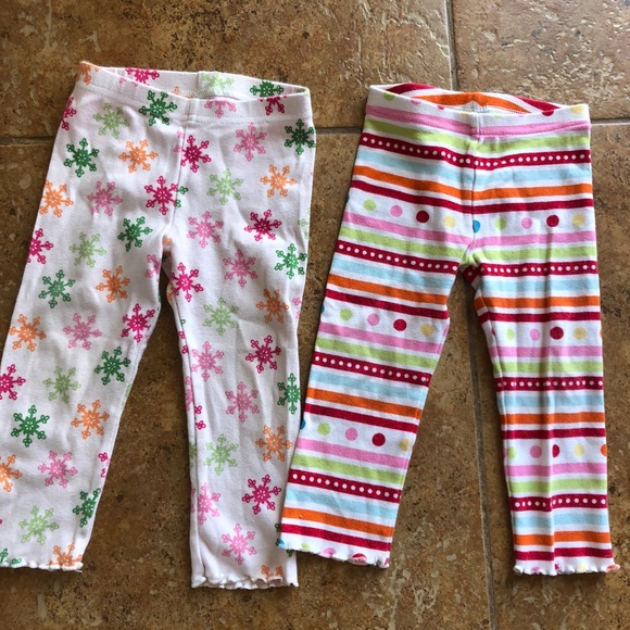 Clothing, Shoes & Accessories Gymboree Purple Floral Pants Sz 18-24 Months Ruffle Butt Leggings Baby Girls Nwt